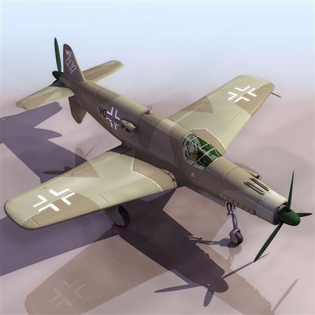 飞机3D模型系列 19-20世纪飞机历史博物馆 Do335箭式战斗机