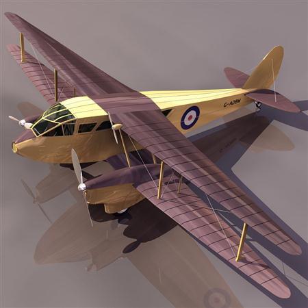 """飞机3D模型系列 19-20世纪飞机历史博物馆 DH.89""""迅龙"""""""