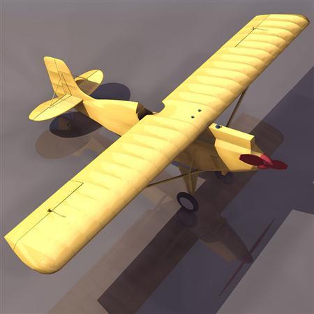 飞机3D模型系列 19-20世纪飞机历史博物馆 单翼滑翔飞机