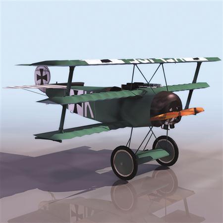 飞机3D模型系列 19-20世纪飞机历史博物馆 二战德国双翼螺旋桨战斗机