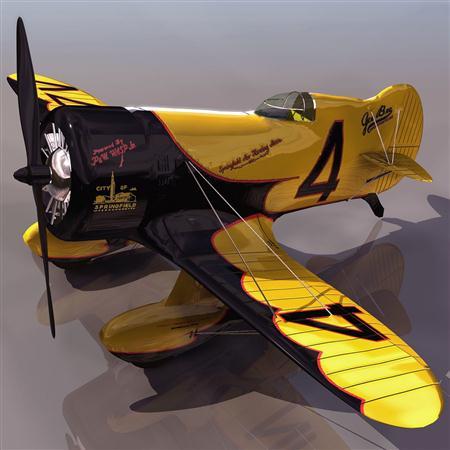 飞机3D模型系列 19-20世纪飞机历史博物馆 吉比竞速飞机 GEEBEE