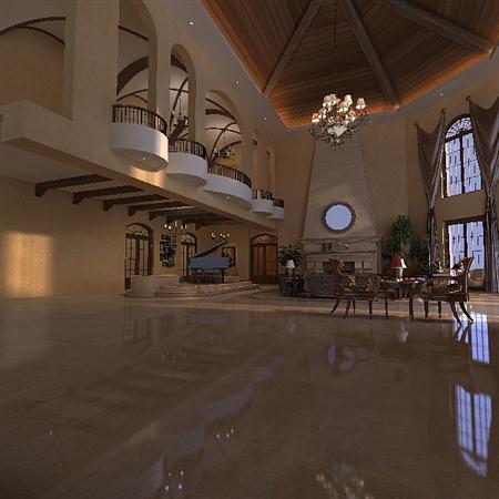 豪华室内场景模型