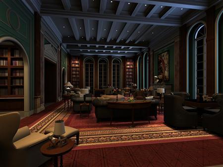 大型书房模型