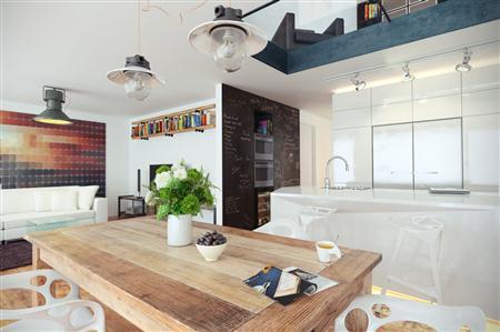 室内场景餐厅 厨房 客厅