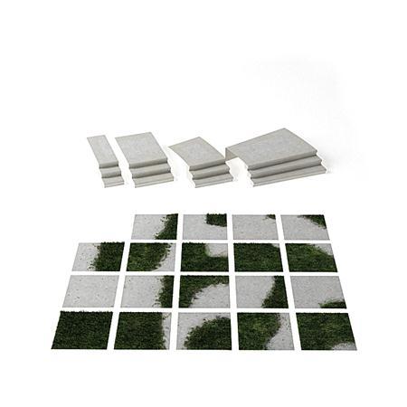 草坪地板路面台阶 03