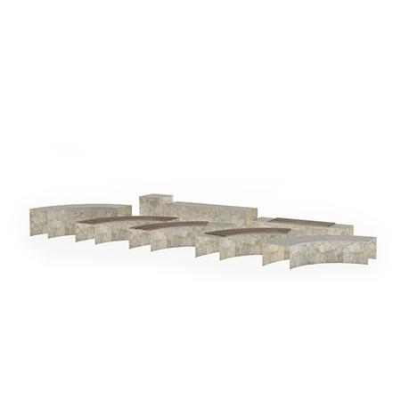 围墙系列 石砌围墙3