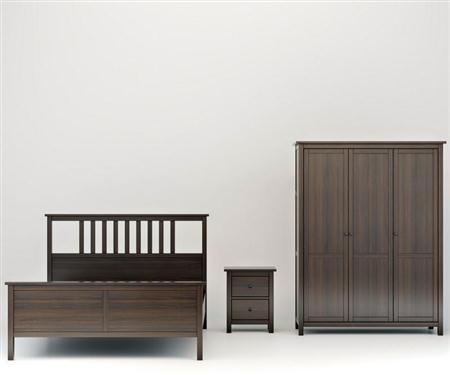 美式实木组合床柜