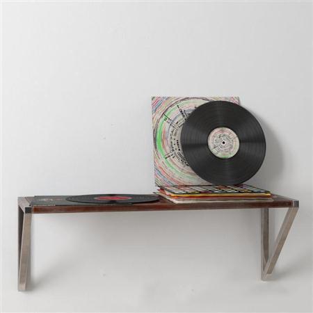 loft风格挂壁台怀旧唱片摆件