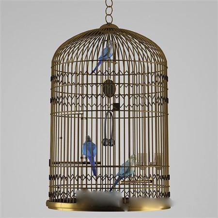 地中海风格金属鸟笼装饰