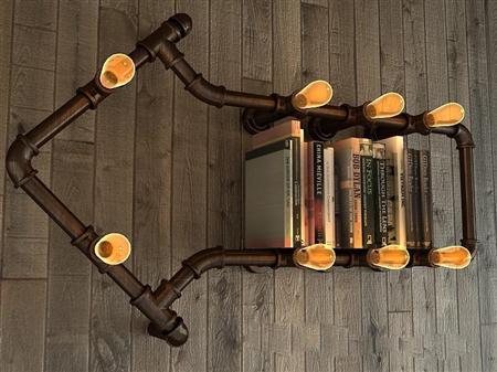 loft工业风书架套装1