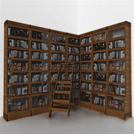 欧式简约转角多层书柜
