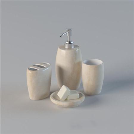 米白色香皂盒沐浴用品