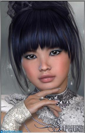 Sapphire is a Gorgeous Oriental – High Quality Character for Victoria 4 华丽的东方蓝宝石