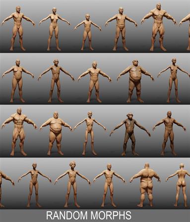 Turbosquid – Human Zbuilder 各种人体3D模型合辑