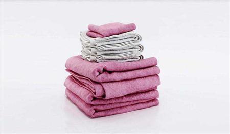 彩色纯色棉质毛巾3