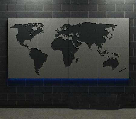 世界地图装饰
