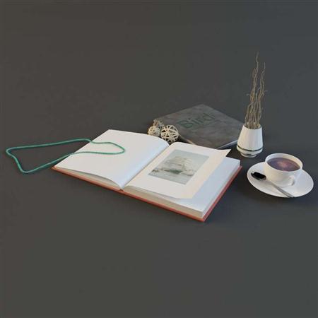 书笔记本咖啡杯