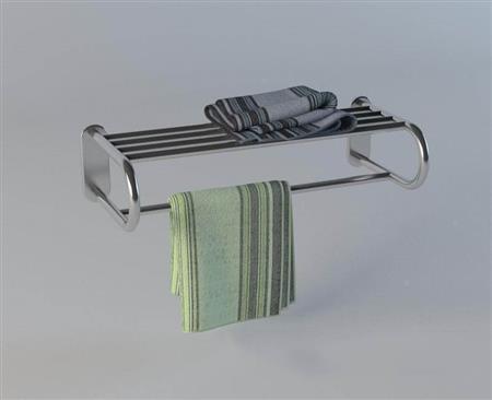 不锈钢毛巾衣物置物架