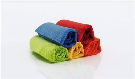 彩色纯色棉质毛巾1