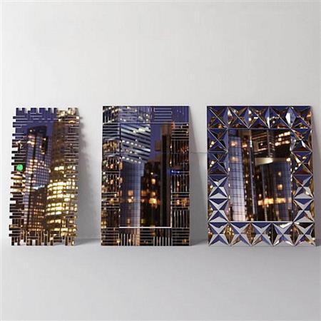 现代都市创意墙饰画