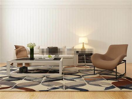 现代风格皮艺沙发茶几组合