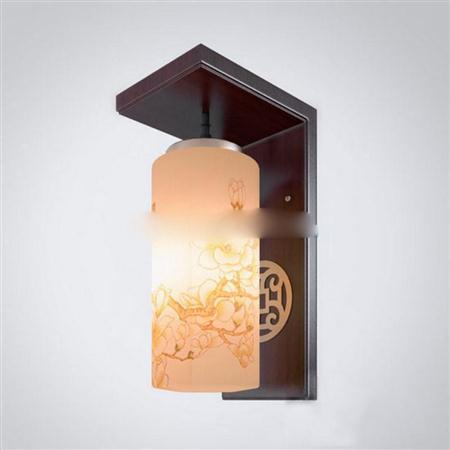 中式仿古实木过道壁灯