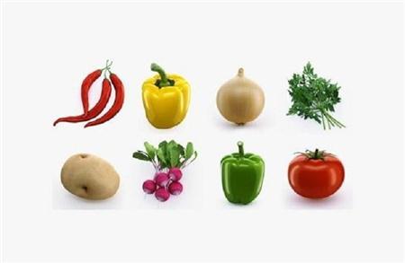 14款漂亮蔬菜模型