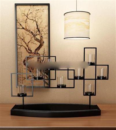 中式木质酒杯架 3D模型下载