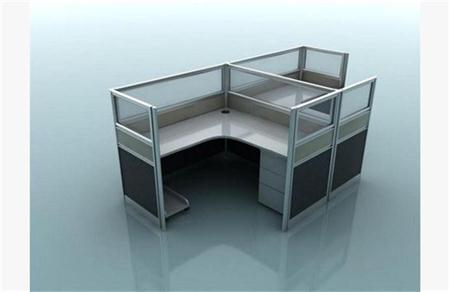 现代玻璃金属办公桌 3D模型下载