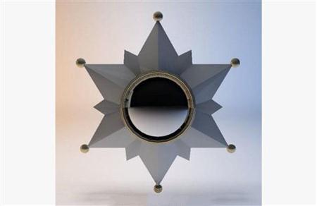 现代金属镜子 3D模型下载