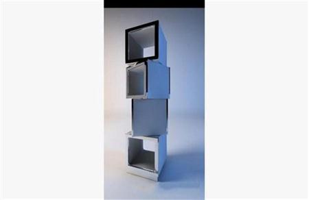 现代置物架 3D模型下载