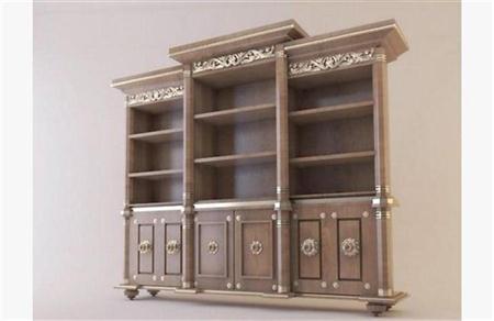 欧式书柜 3D模型下载