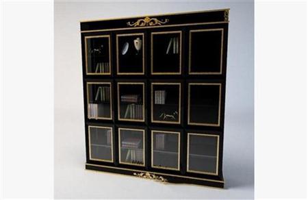 现代书柜 3D模型下载