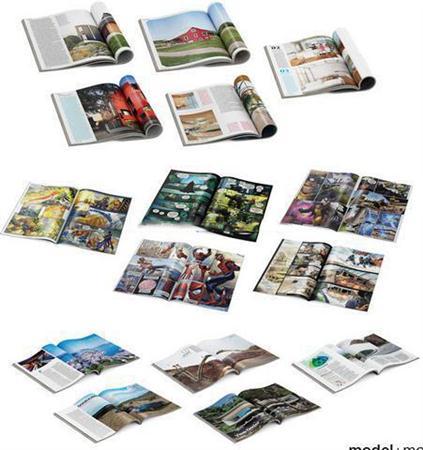 英文杂志3d模型、英文书籍3d模型(翻开)