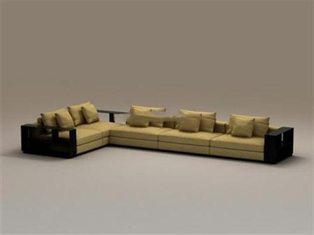 中式沙发 3D模型下载