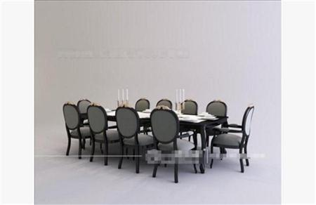 简欧餐桌椅