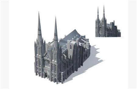 欧式古典哥特风格大建筑
