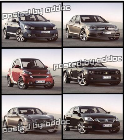3D Models- PK3D Studio-HD Cars vol. 4 汽车模型