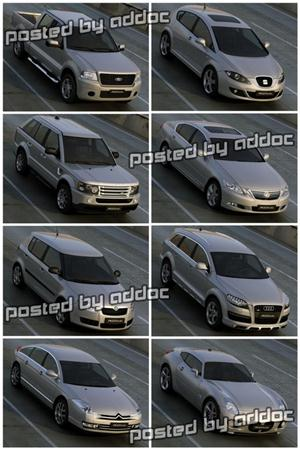 3D Models – PK3D Studio – HD Cars vol. 2 汽车模型