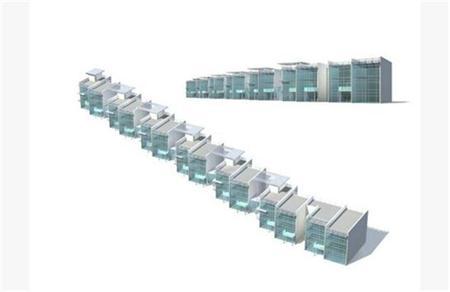 商铺建筑模型