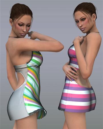 Renderosity Shocking V4/A4/G4/S4女性衣服