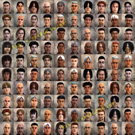 FaceGen Hair Models 头发模型