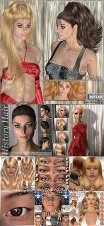 3Dream Poser models头发和眼睛