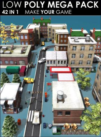 3DOcean – Low poly City Megapack (42 models)