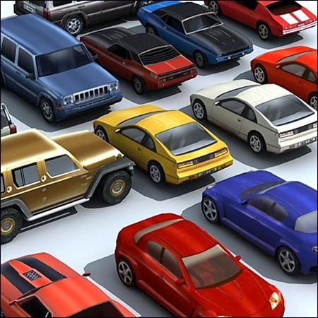 3D Models of Lowpoly Cars 汽车模型