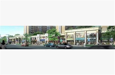 商业街 临街购物建筑群 简模