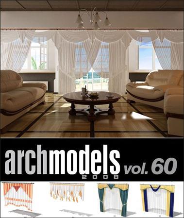 Evermotion – Archmodels vol. 60 (FBX) 窗帘,百叶窗