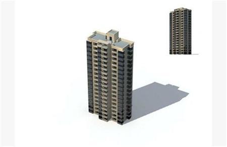高层建筑 简模