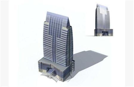 企业大楼 简模