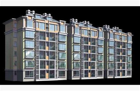 多层住宅房屋建筑外表